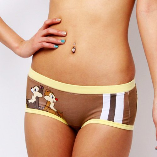 New Sexy Women's 100% Cotton Boxers Underwear Chip'n Dale ...