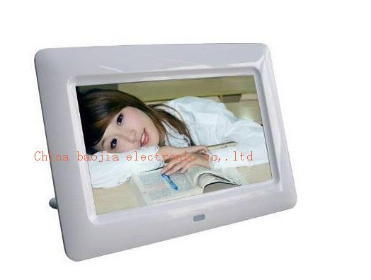 White 7 Inch Digital Photo Frame