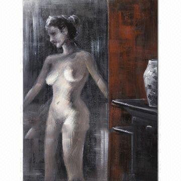 Guarantee 100 Handpainted High Quality Oil Painting Abstract Oil Painting Nuked Girl