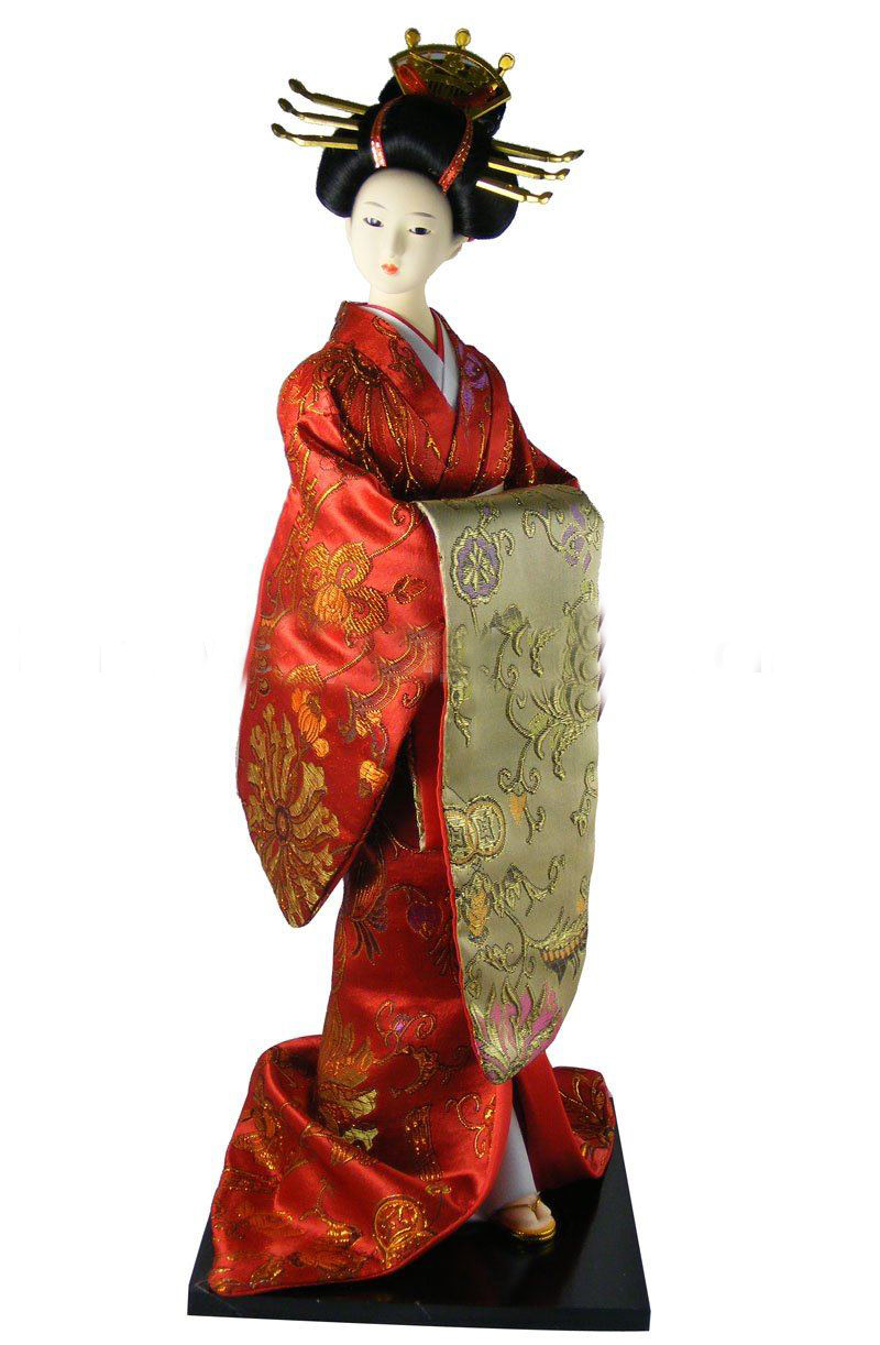 "Hot 16"" Japanese Doll Free Shipping Japanese Geisha Doll"
