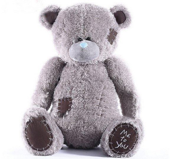 1.15M Gray Big Bears Beggar Bear Tatty Teddy Patch Me To You Stuffed Animals Plush Dolls