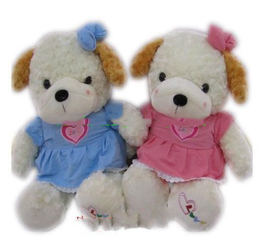 Plush Stuffed Valentine Dogs A Pair 24 Inches Free Shipping