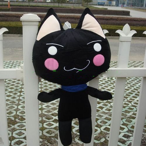 Stuffed Toro Inoue Cat 31 80cm Black Color, Plush Stuffed Cat, Free Shipping
