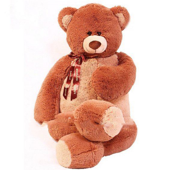 New 1.3m Big Brown Beige Hans Bear Christmas Plush Toys Stuffed Animals Bears
