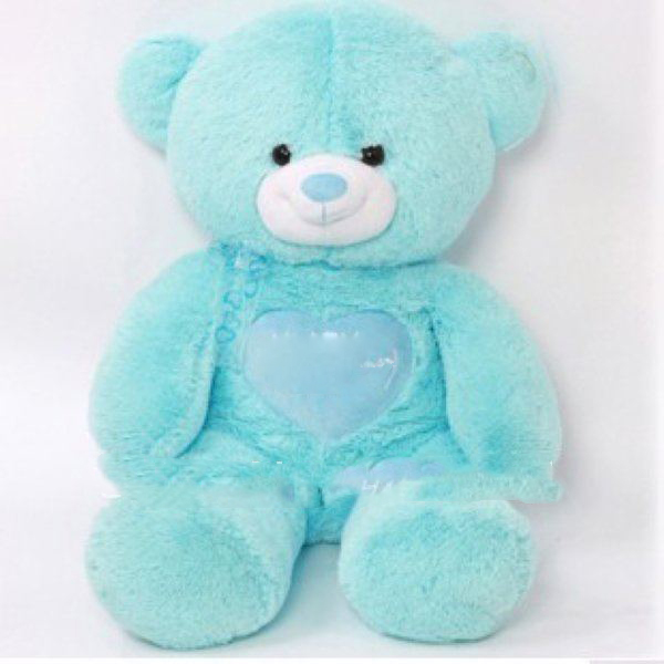 100cm Blue Large Stuffed Bears Plush Bear Heart Stuffed Animals Girls Toys Dolls