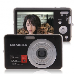 Amanda99 DC-E70 12MP 2.7-inch LCD HD Digital Camera with 8x Digital Zoom (Black)