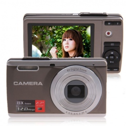 Amanda99 DC-E80 12MP 2.7-inch LCD HD Digital Camera with 8x Digital Zoom (Gray)