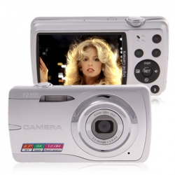 Amanda99 DC-E60 12MP 2.7-inch LCD HD Digital Camera with 8x Digital Zoom (Sliver)