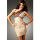 Tight Zipper One Shoulder Bandage Formal Short Evening Dresses
