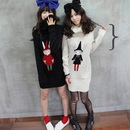 Ladies' Lovely Long Knitted Pullover Christmas Sweater