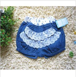 Girl Blue Denim Summer General Shorts