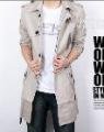 Men's Long Korean Style Cotton Windbreak Coat