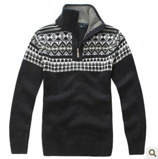 Men's Anti-Shrink Computer Knitted Cardigan Sweater
