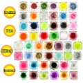Quality Set 50 Color UV Gel Nail Glitter Art Tool
