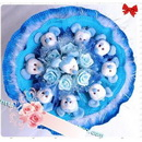 Romantic Blue Micky Mouse Bouquet for Wedding / Valentine / Birthday Gift