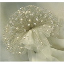 Free Shipping Crystal Wedding Bouquet, Feather Pearl Bouquet, Bridal Bouquet