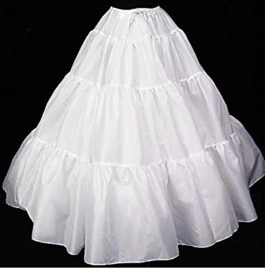 White Silk Underskirt Slip Beauty Bridal Petticoat
